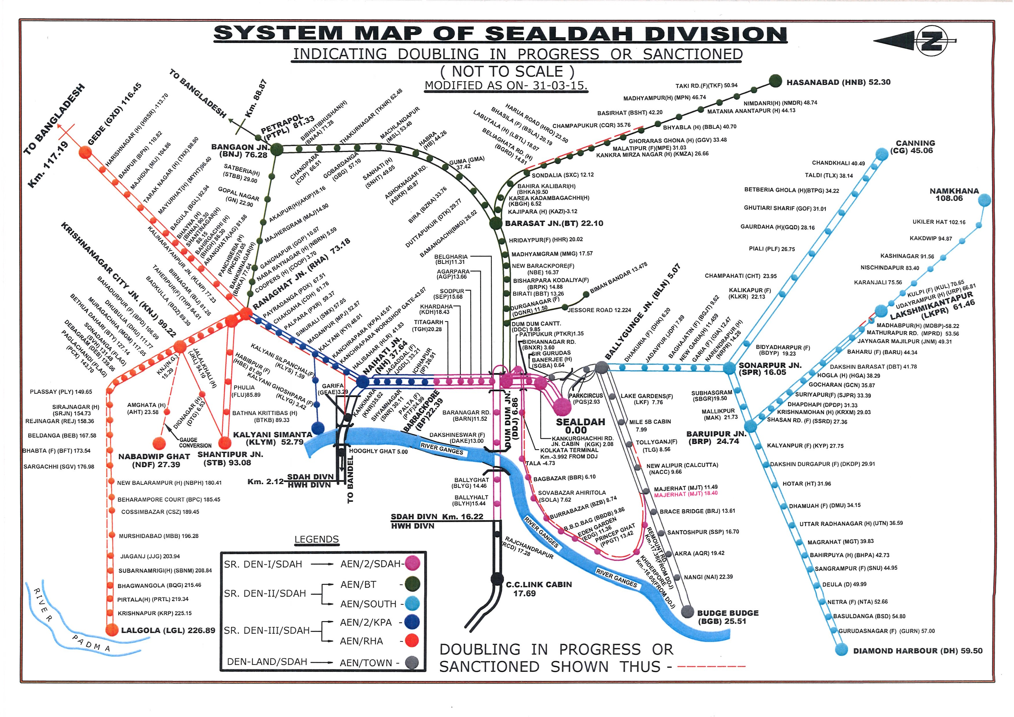 Railway Route Map Eastern Railway Railway Route Map